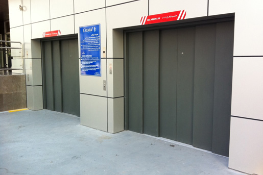 Entrance to Heavy Duty Goods Lifts for Vehicles - Focus Lifts