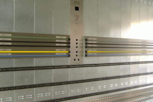 Control Panel and indicator lights of hydraulic vehicle lift - Focus Lifts