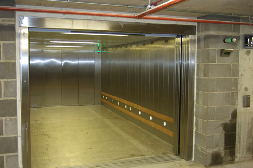 Vehicle Lift with Sliding Doors and Remote Access - Focus Lifts